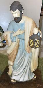 Vintage Nativity Scene Replacement Piece Ceramic Joseph