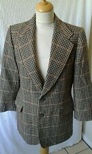 1970s style tweed Blazer suit jacket big lapelled chest 40' by Pierre cardin