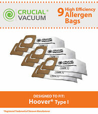 9 Hoover I HEPA Style Vacuum Bags, Compare to Hoover Platinum Part # AH10005