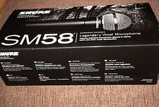 Shure SM58-LC Dynamic Legendary Vocal Microphone - Brand New in box