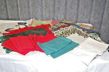 Christmas Placemats, Towels, Doilies, Napkins  24 Piece Lot   X648
