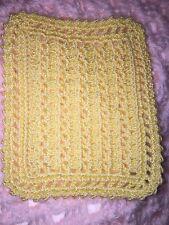 HAND CROCHET MINIATURE DOLLHOUSE  BLANKET Light Yellow