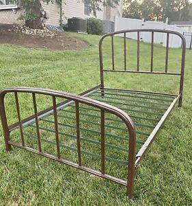 Simons Vintage Iron/Steel Bed Frame 1920s 1930s Standard full/double size