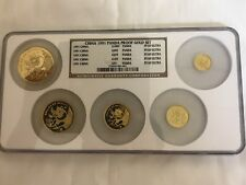 1991 P 1.9 oz Gold Panda Proof Set China NGC PF69