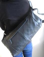 Ausverkauf!Preishammer! Unisex Luxus Leder Bodybag XL Crossbody Echt Nappaleder