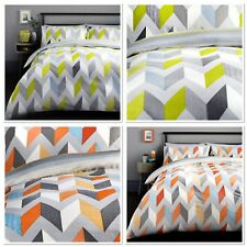 Fusion Grafix Easy Care Reversible Duvet Cover Bedding Set Grey or Multi