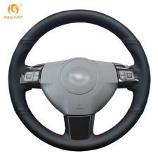 Hand Sewing Black Leather Wheel Cover for Opel Astra Corsa 2009 Zaflra 2004-2006