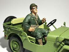 USA ARMY SOLDIER OFFICER WW11 1/18 9.5cm Scale Model Diecast Toy Car war