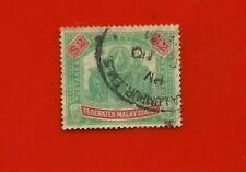 MALAYA, Used 1900  ELEPHANTS & HOUDAK STAMP