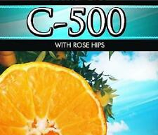 C-500  Pure Vitamin C 500mg 100 Tablets with Rose Hips Maximum Strength Formula