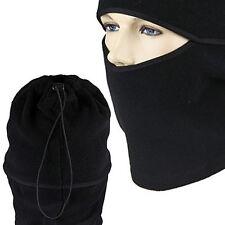 Outdoor Balaclavas Sports Headgear Warm Scarf Fleece Hat Tactical CS Mask Black