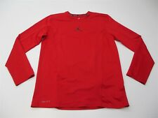 Nike Men's Size M Air Jordan Dri-fit Crew Red Basketball Long Sleeve T-Shirt
