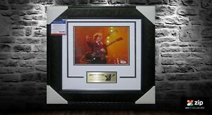 ANGUS YOUNG - ACDC HAND SIGNED & FRAMED PHOTO PSA DNA CERT No P43125