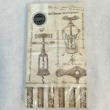 NEW Cypress Home Twisted Corkscrew Embossed Guest Towels Buffet Napkins 15 Count