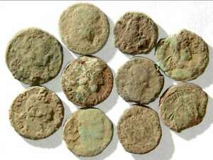 IVLLA 10 Ancient Roman Coins Uncleaned and As Found X01701