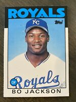 BO JACKSON 1986 TOPPS TRADED ROOKIE #50t K.C ROYALS BASEBALL CARD RC MINT Update