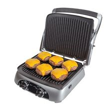 Farberware 4-In-1 Grill with 4 Removable Cooking Non-Stick Plates Adjust Temp