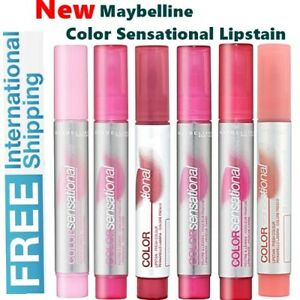 NEW Maybelline Color Sensational Lip Stain Fresh Colour 6 Different Shades