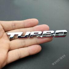 Metal Chrome Silve Car Turbo Auto Trunk Lid Rear Badge Emblem Decal Sticker