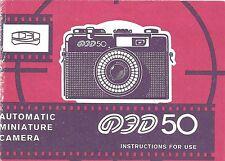 FED50 Fed 50 Original Instruction Book