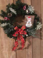 """Christmas Door wreath 15"""" """"Let It Snow"""""""