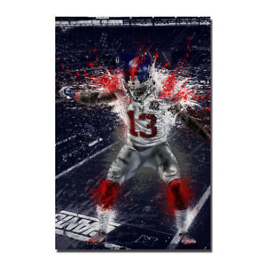 Odell Beckham Jr NY Giants Wide Receiver NFL Silk Canvas Poster 13x20 24x36 inch