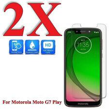 9H Premium Tempered Glass Screen Protector for Motorola Moto G7 Play (2 Pack)
