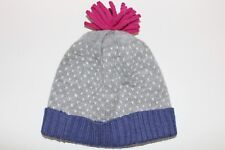 George Girls Grey/Blue/Pink Bobbie hat Age 1-3 Brand New