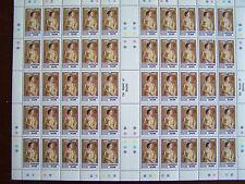 ISOLA di ascensione, Regina Madre foglio di 50 FRANCOBOLLI, U/Menta,. ottime LOTTO.