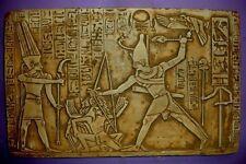 Egyptian Wall Decor King Ramses Kadesh Battle Plaque