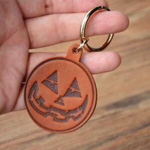 Genuine Keychain Cartoon Halloween Pumpkin Pendant Key Holder Creative Household