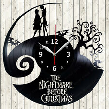 The Nightmare Before Christmas Vinyl Record Wall Clock Decor Handmade 72
