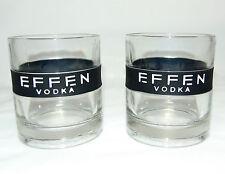 EFFEN Vodka short glass (Set of 2) Tumblers 8 FL Oz (0.23L) / Pressed Glass