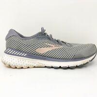 Brooks Womens Adrenaline GTS 20 1202961B073 Gray Running Shoes Lace Up Size 9 B