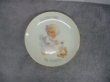 "Enesco 1980 Precious Moments ""Blessed Are The Merciful"" Plate Girl & Mouse"