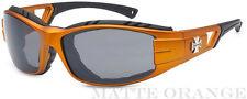 New Choppers Motor Bikers Mens Foam Padded Goggle Sunglasses - Matte Orange C51