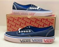 Vans Authentic Sneakers Blue White Checkered Logo Unisex VN0A38ENNQO Size 6 Mens