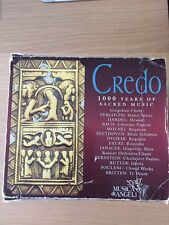 CREDO. 1000 Years Of Sacred Music.  15 CD Box Set. Musica Di Angeli. Mood Music