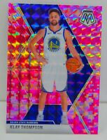 Klay Thompson 2019-20 CAMO PINK MOSAIC PRIZM Card #80 Golden State Warriors NBA