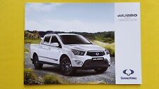 Ssangyong Musso SE EX Auto pick-up brochure sales catalogue MINT PERFECT 2016