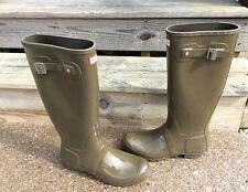 New Without Box Hunter Original Tall Gloss Rain Boots Swamp Green Size 11 EU 43