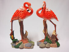 2Pcs Garden Outdoor Resin Flamingo Birds Ornament Multi-coloured-Pair 20cm*35cm