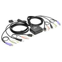 Tripp Lite 2-Port KVM Switch w/ HDMI USB Audio Cables Peripheral Sharing