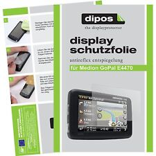 2x Medion GoPal E4470 Schutzfolie matt Displayschutzfolie Folie dipos