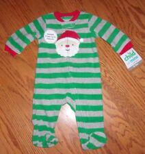 NEW! CARTER CHILD OF MINE INFANT BABY SIZE 0 - 3 MOS CHRISTMAS SANTA PAJAMA NWT