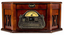 AMOS Retro LOOK Wooden Turntable 3 Speed Record Player Vinyl & CD to Mp3 Convert