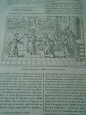 Jeux enfantins au 16ème siècle Jeux Crécelle Bilboquet Gravure Old Print 1886