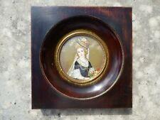 Ancienne peinture miniature, 19 ème siècle. Haute Epoque