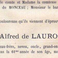 Marie André Alfred De Lauro 16 Rue du Vieux Raisin Toulouse 1881
