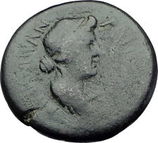 AUGUSTUS wife LIVIA and Daughter JULIA 10BC Pergamum Ancient Roman Coin i64255